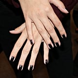 This technique was first used in photo shoots and on runways to create the illusion of longer, slimmer nails.