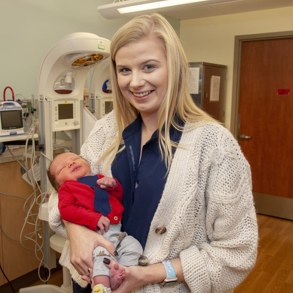 Newborn Babies Dressed as Mister Rogers For Cardigan Day