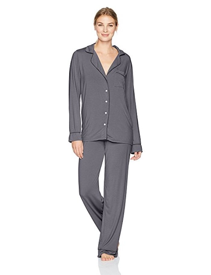 Barefoot Dreams Women's Luxe Milk Jersey Piped Pajama Set