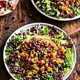Roasted Butternut Salad With Pomegranates and Creamy Curry Dressing