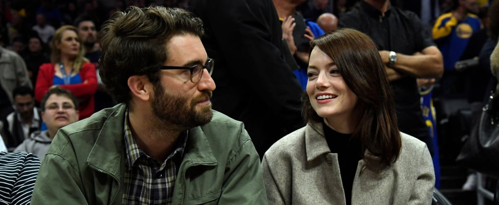 Emma Stone and Dave McCary at Clippers Game January 2019