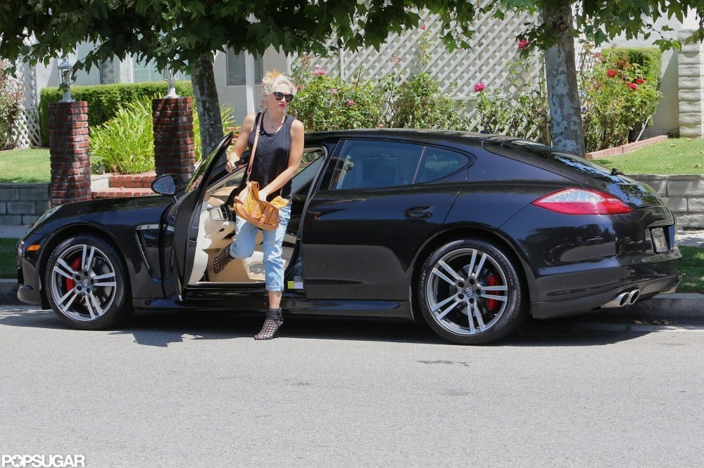 Gwen Stefani stepped out of her car in Studio City.