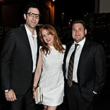 Isla Fisher and her husband, Sacha Baron Cohen, hung out with Jonah Hill.