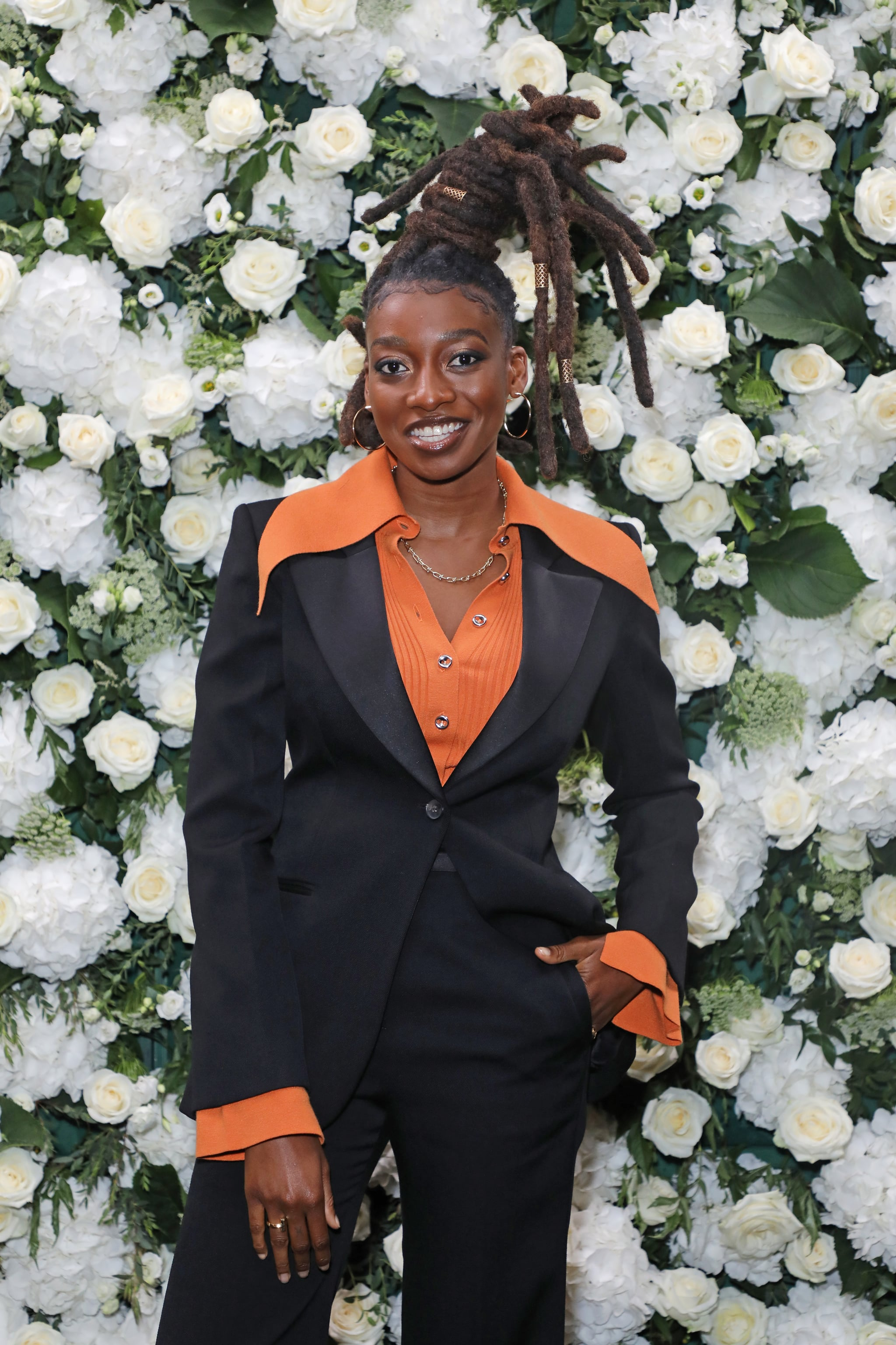 LONDON, ENGLAND - SEPTEMBER 20:  Little Simz attends an intimate dinner and party hosted by British Vogue and Tiffany & Co. to celebrate Fashion and Film during London Fashion Week September 2021 at The Londoner Hotel on September 20, 2021 in London, England.  (Photo by David M. Benett/Dave Benett/Getty Images)