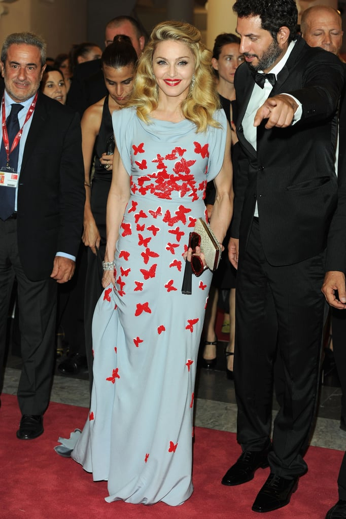 Madonna wore a butterfly-printed Vionnet gown to the debut of W.E.