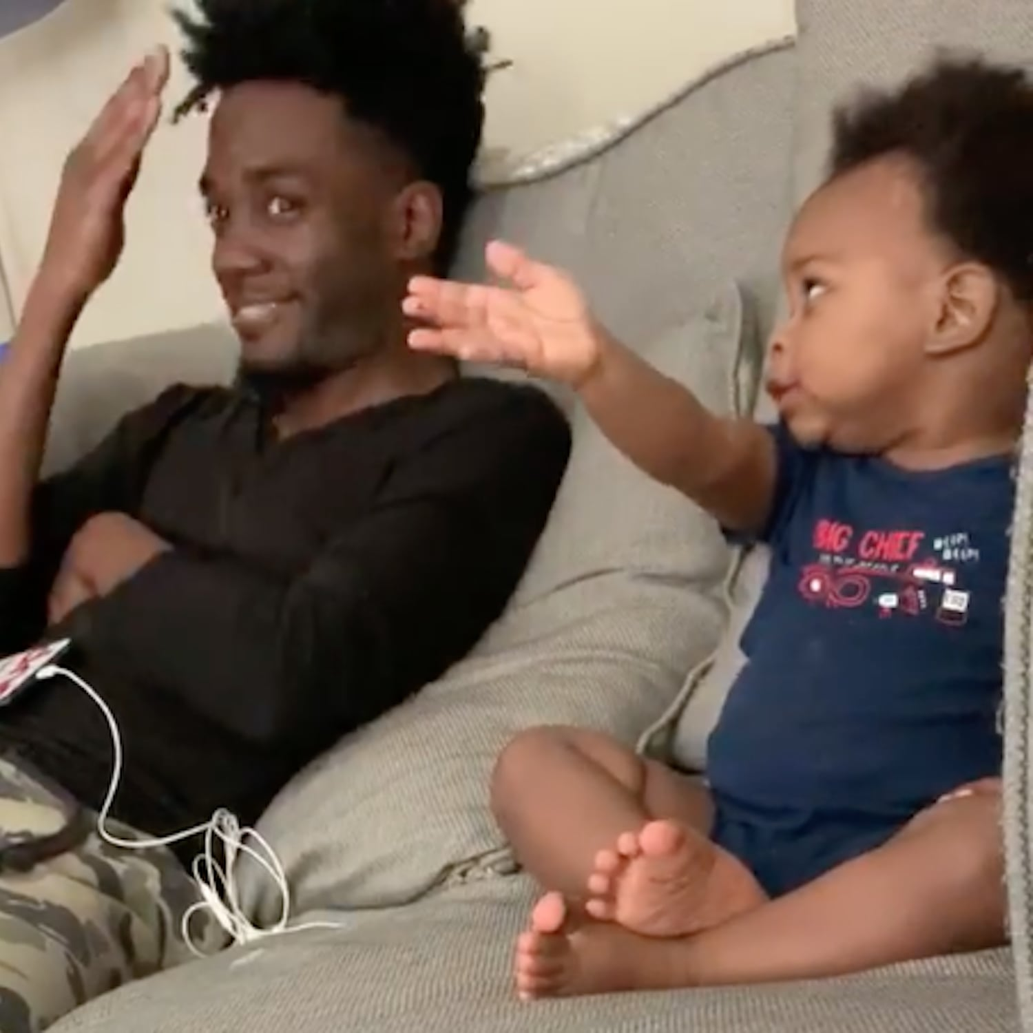Viral Video of Baby Boy Talking to His Dad | POPSUGAR UK Parenting