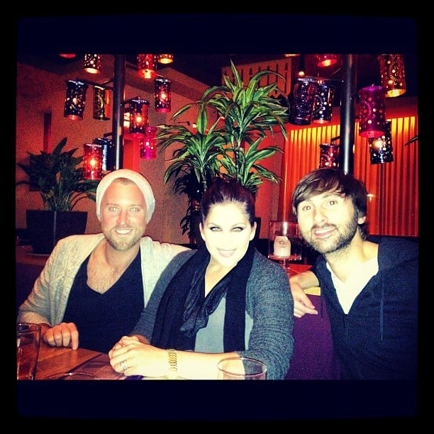 Lady Antebellum celebrated their win over dinner and drinks. Source: Instagram user lady_antebellum