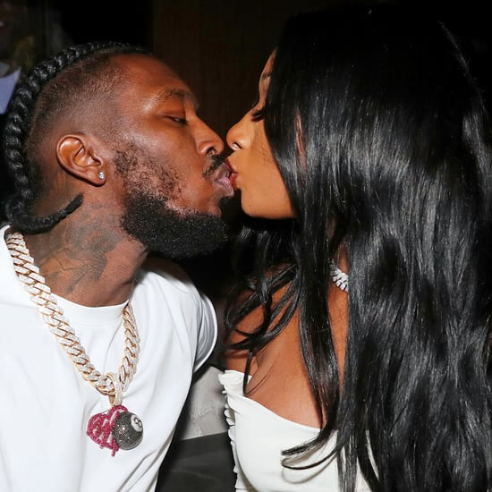 Megan Thee Stallion and Pardi Kiss at JAY-Z's 40/40 Event
