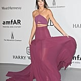 Kendall Jenner showed her midsection in a Calvin Klein Collection dress at 2015's amfAR's Cinema Against AIDS Gala.