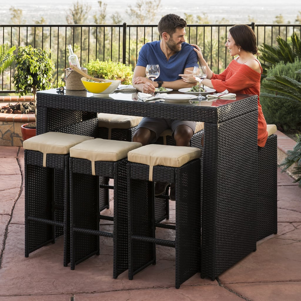 Best Choice Products Outdoor Rattan Wicker Bar Dining Patio Furniture Set