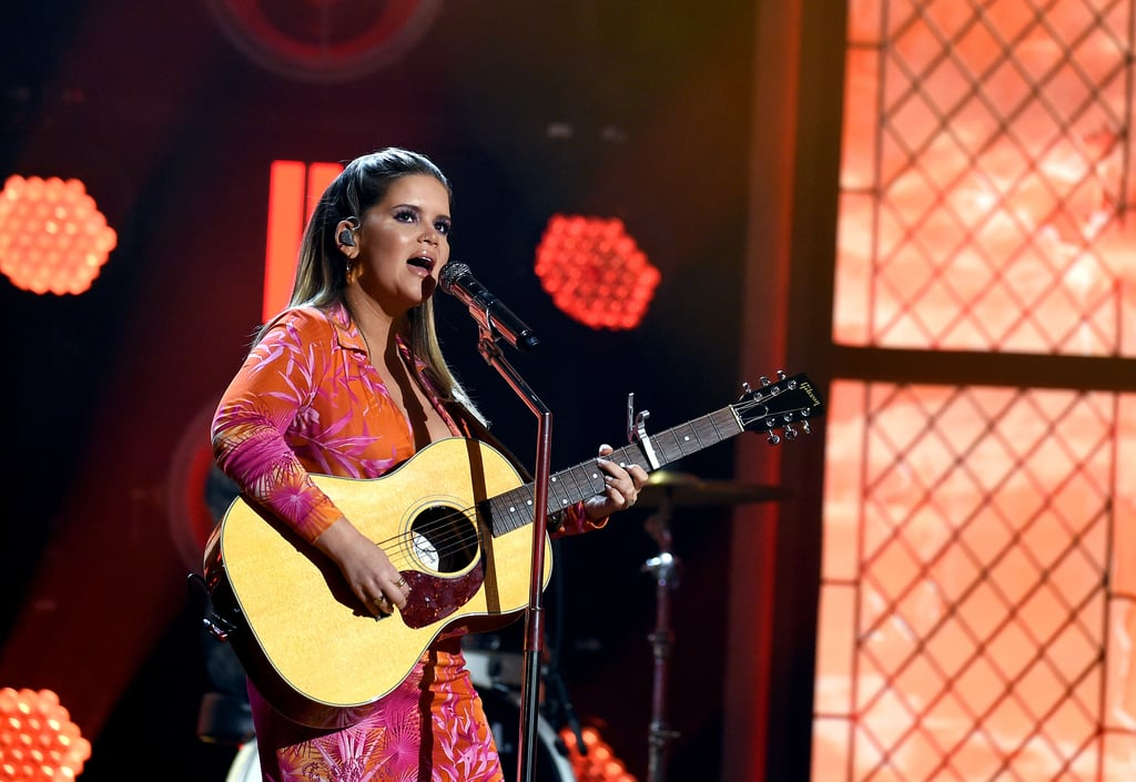"""Maren Morris absolutely crushed it at the 2020 Academy of Country Music Awards, which marked her first award show performance since giving birth just over five months ago in March. Backdropped by a beautiful stained glass set-up, the 30-year-old singer performed her rousing new single, """"To Hell & Back,"""" off her 2019 album Girl. Morris also took home the award for female artist of the year. At last year's ACM Awards, Morris performed party anthem """"All My Favorite People"""" with the Brothers Osborne. This year's performers — which included Taylor Swift, Carrie Underwood, and Kane Brown — were able to take the stage safely because there was no live audience and their respective Nashville venues — the Grand Ole Opry House, Ryman Auditorium, and Bluebird Café — were empty. Enjoy Morris's stirring performance ahead.      Related:                                                                                                           Taylor Swift Broke Out Her Guitar to Sing """"Betty"""" For the First Time at the ACM Awards"""