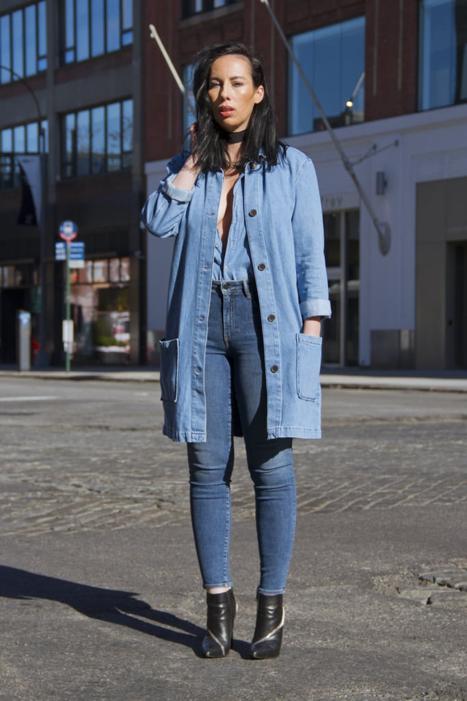 With all denim, save for your cool booties