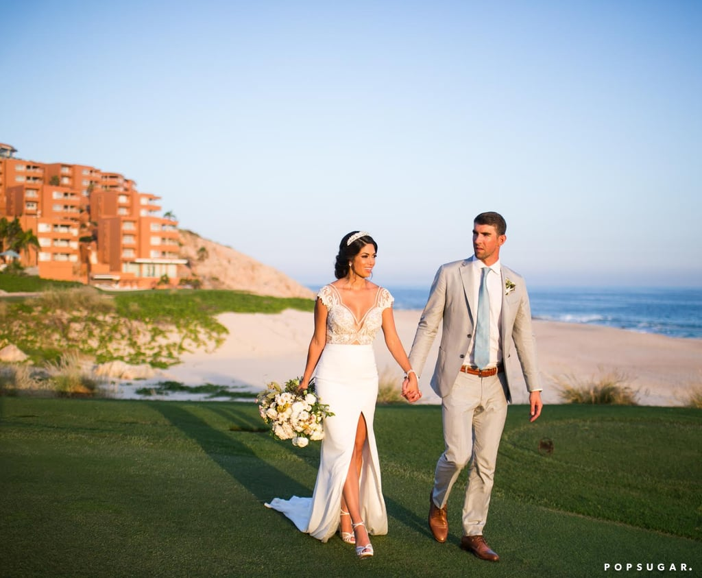 See Photos From Michael Phelps And Nicole Johnsons Gorgeous Beach Wedding In Mexico