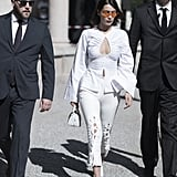 Bella Hadid Wore All White During Her First Day at Milan Fashion Week