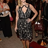 Also at the Toronto Film Festival, Reese Witherspoon proved that she looks just as amazing in a printed Jason Wu dress and green pumps as she does in her denim on the streets.