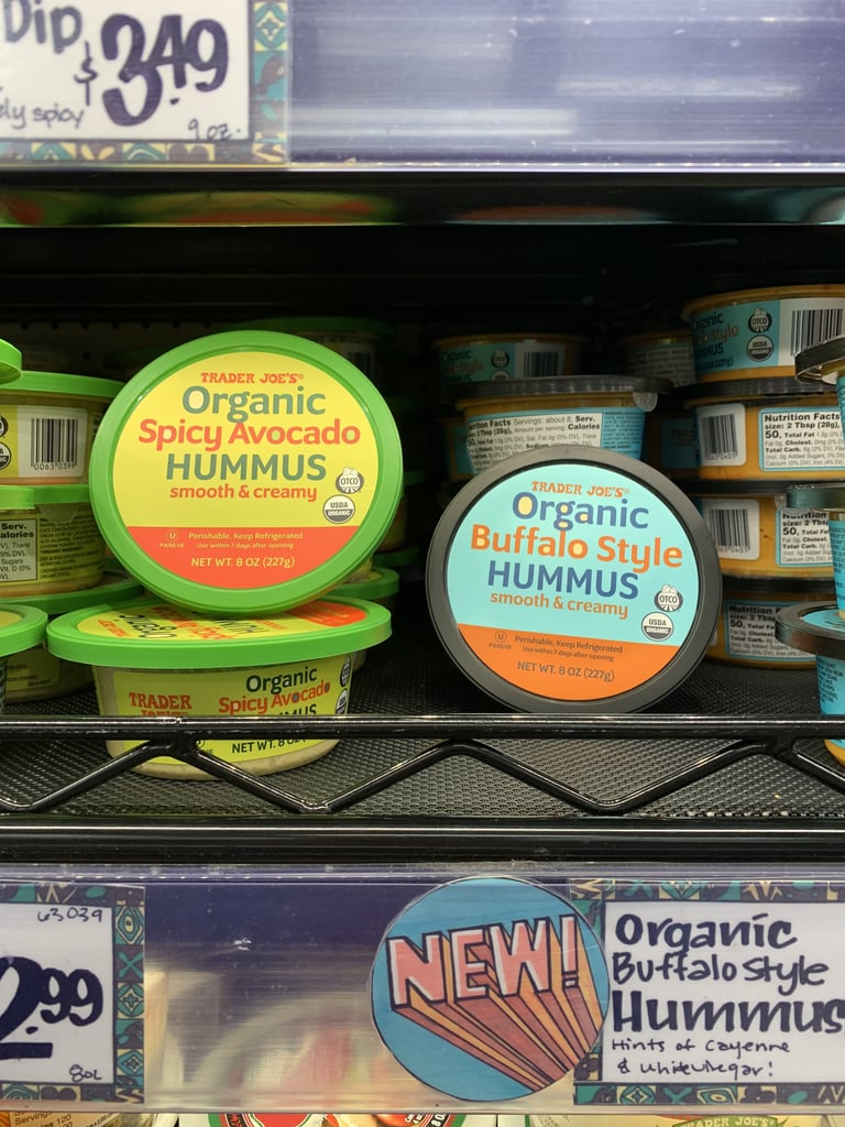 Organic Spicy Avocado Hummus and Buffalo Style Hummus ($3)
