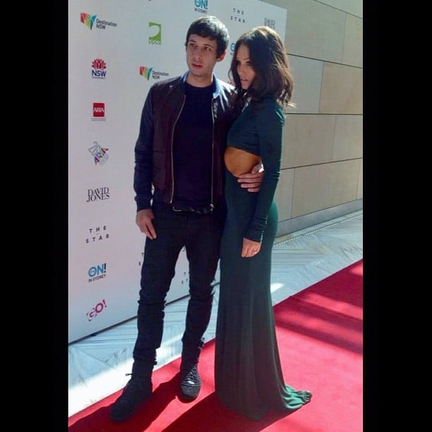 British singer Example stayed close to his new fiancée, Aussie model Erin McNaught, at the ARIA Awards. Source: Instagram user mcnaughty