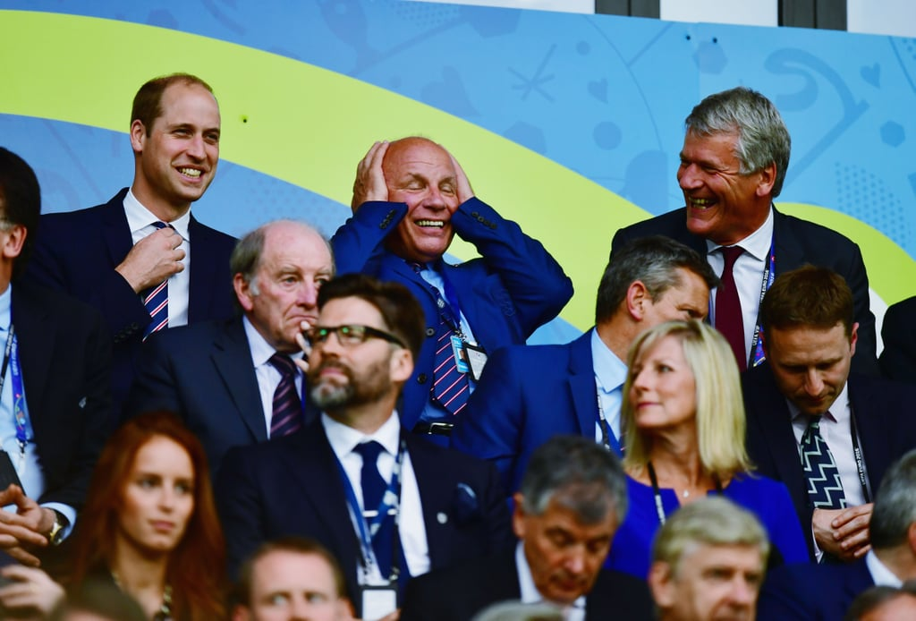 Prince William at Soccer Game in France June 2016