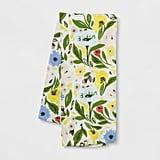 Floral Flat-Weave Kitchen Towel