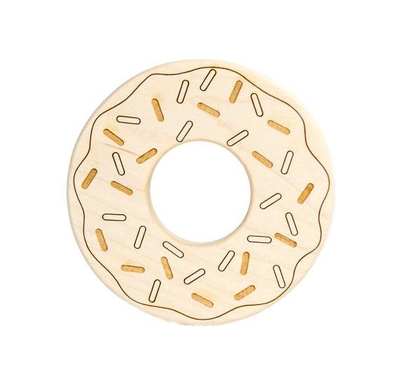 Wooden Doughnut Teether