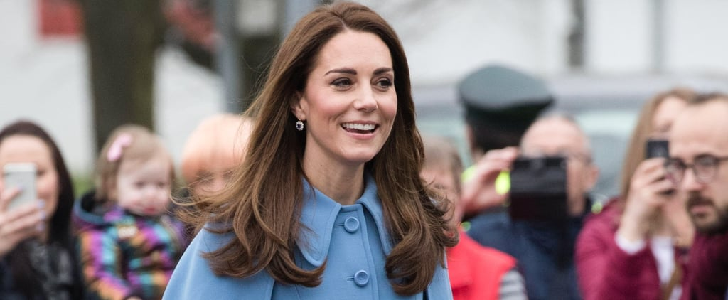 Kate Middleton Wearing Blue Coats