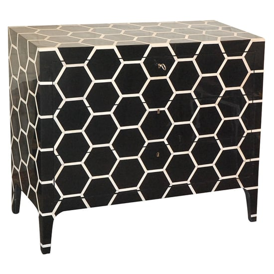 Crave Worthy: Black and White Lacquered Bone Chest