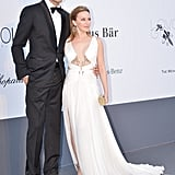 Andrés Velencoso and Kylie Minogue at the amfAR gala in Cannes.