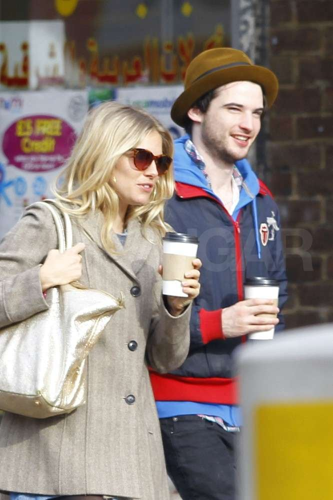 Sienna Miller and Tom Sturridge grabbed coffee together in London yesterday. The twosome have been spotted out on a handful of dates around the city since she split with Jude Law last month. Sienna is currently earning rave reviews for her starring role in a stage production of Flare Path while continuing to grow Twenty8Twelve with sister Savannah. Despite her busy schedule and nightly performances, the stylish star still finds time for her relationship with Tom. He's currently hanging out at home in the UK, but his Summer road trip with friend Robert Pattinson has been a hot topic of conversation in the Twilight star's latest interviews.