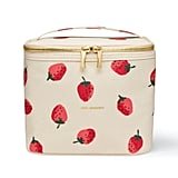 Kate Spade Insulated Soft Cooler Lunch Tote with Double Zipper Close and Carrying Handle, Strawberries