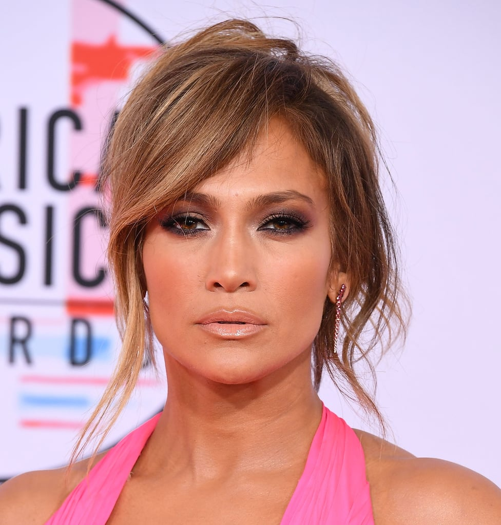 Jennifer Lopez With Side-Swept Bangs