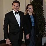 Bradley Cooper brought his girlfriend, British model Suki Waterhouse, as his date.