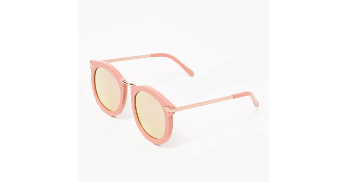 2e3a547cddd3 Karen Walker Super Lunar Sunglasses in Rose Pink ($300) | Rose Gold Gift  Ideas | POPSUGAR Fashion Photo 2
