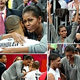 Michelle Obama showed some love for Team USA basketball.