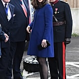 Kate Middleton Blue Goat Coat