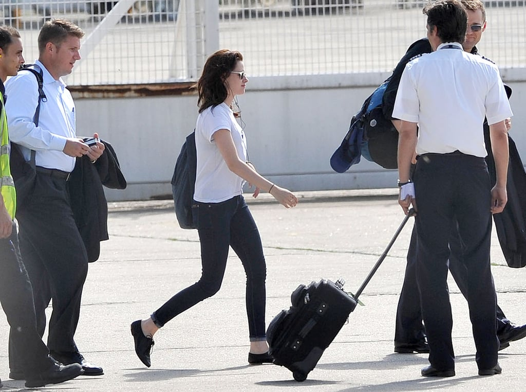 Kristen Stewart walked on the runway.