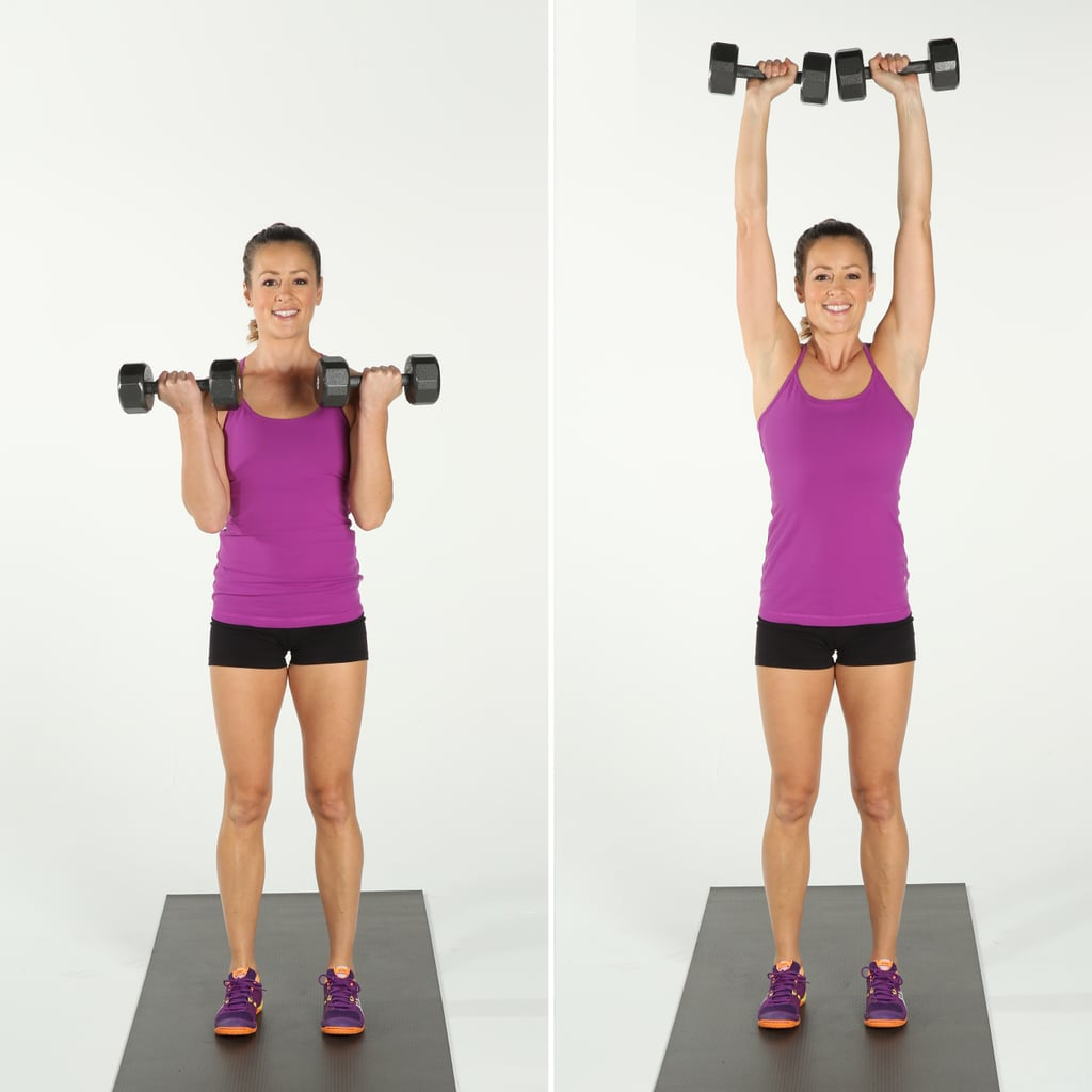 Bicep Curl And Overhead Press Best Dumbbell Arm Exercises