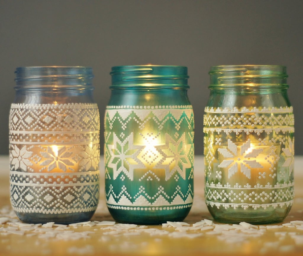Sweater Candles Mason Jar Holiday Decor Popsugar Home