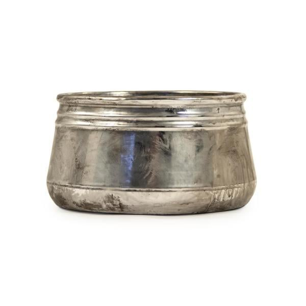 Zentique Small Distressed Metallic Can-shaped Bowl