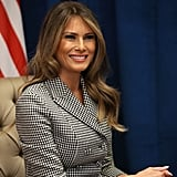 Melania Trump Wore a Checkered Suit For Her First Solo Trip as First Lady