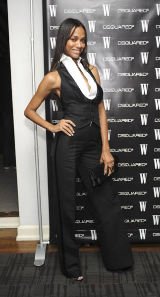 Zoe donned a slick tux suit at the Dsquared2 party in '08.