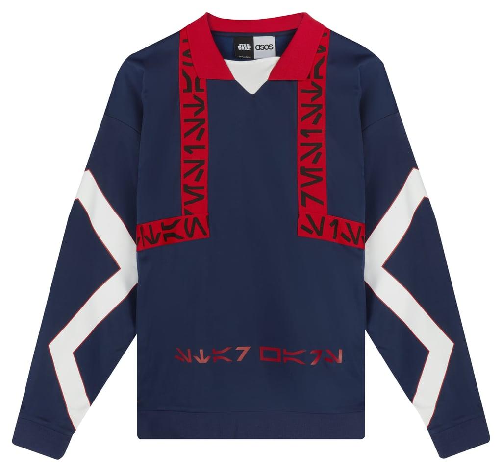 ASOS x Star Wars Oversized Sweatshirt V Neck With Printed Tape