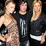 Paris Hilton, Brandon Davis, and Nicky Hilton