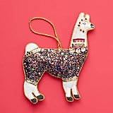 Triangle of Bears Glitter Llama Ornament