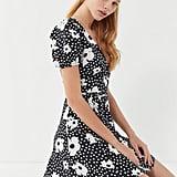 UO Jocelyn Printed Puff Sleeve Mini Dress
