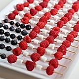 Just in time for the Fourth of July, these American-flag fruit skewers will be snatched up by all your guests.
