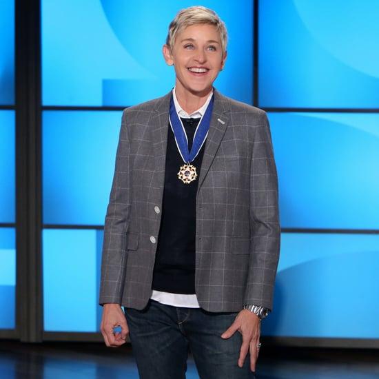 Ellen DeGeneres Talks Presidential Medal of Freedom Video