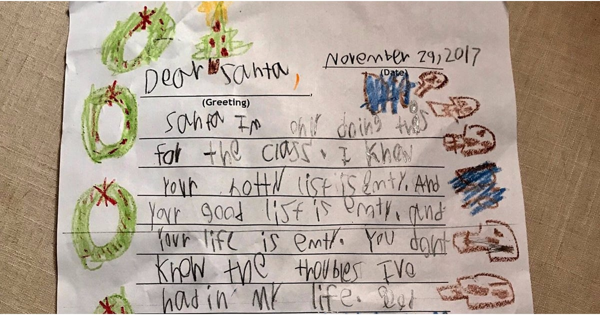 savage love letter of the day 6 year s savage letter to santa popsugar family 1610