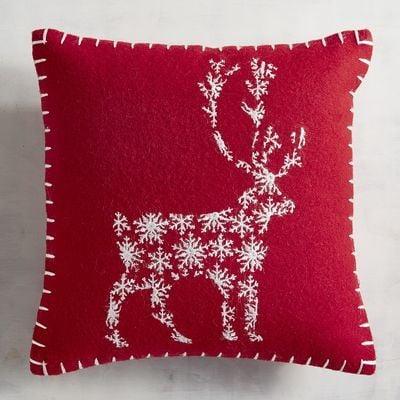 Reindeer Mini Red Pillow ($20)