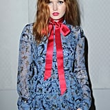 Ellie Bamber at Erdem