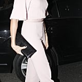 Cameron Diaz wore an Emilia Wickstead jumpsuit for the Obama Victory Fund dinner held at Mark's Club in London.